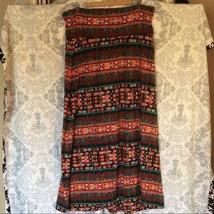 BoHo Tribal Maxi Skirt